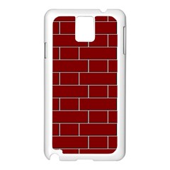 Flemish Bond Samsung Galaxy Note 3 N9005 Case (White)