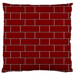 Flemish Bond Large Flano Cushion Case (One Side)