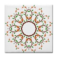 Frame Floral Tree Flower Leaf Star Circle Tile Coasters