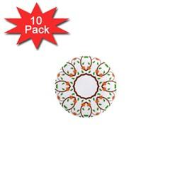 Frame Floral Tree Flower Leaf Star Circle 1  Mini Magnet (10 pack)