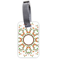 Frame Floral Tree Flower Leaf Star Circle Luggage Tags (Two Sides)