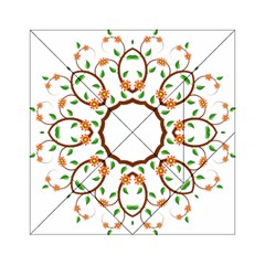 Frame Floral Tree Flower Leaf Star Circle Acrylic Tangram Puzzle (6  x 6 )