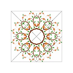 Frame Floral Tree Flower Leaf Star Circle Acrylic Tangram Puzzle (4  x 4 )