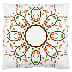 Frame Floral Tree Flower Leaf Star Circle Large Cushion Case (Two Sides)