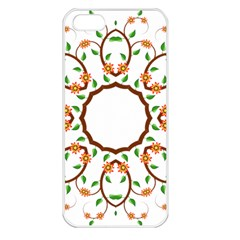 Frame Floral Tree Flower Leaf Star Circle Apple iPhone 5 Seamless Case (White)