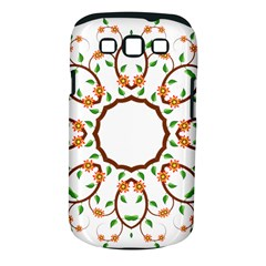 Frame Floral Tree Flower Leaf Star Circle Samsung Galaxy S III Classic Hardshell Case (PC+Silicone)