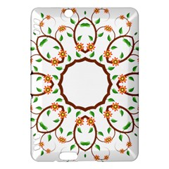 Frame Floral Tree Flower Leaf Star Circle Kindle Fire HDX Hardshell Case