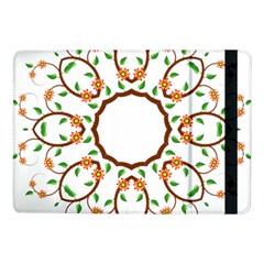 Frame Floral Tree Flower Leaf Star Circle Samsung Galaxy Tab Pro 10.1  Flip Case