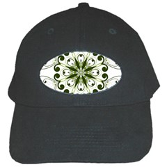 Frame Flourish Flower Green Star Black Cap