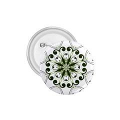 Frame Flourish Flower Green Star 1.75  Buttons
