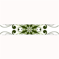 Frame Flourish Flower Green Star Small Bar Mats
