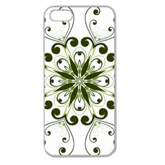 Frame Flourish Flower Green Star Apple Seamless iPhone 5 Case (Clear)