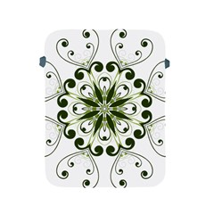 Frame Flourish Flower Green Star Apple Ipad 2/3/4 Protective Soft Cases