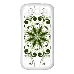 Frame Flourish Flower Green Star Samsung Galaxy S3 Back Case (White)