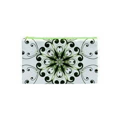 Frame Flourish Flower Green Star Cosmetic Bag (XS)