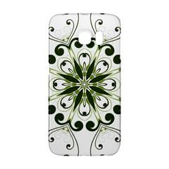 Frame Flourish Flower Green Star Galaxy S6 Edge