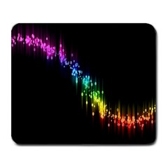 Illustrations Black Colorful Line Purple Yellow Pink Large Mousepads