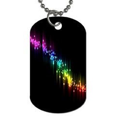 Illustrations Black Colorful Line Purple Yellow Pink Dog Tag (one Side)