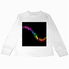 Illustrations Black Colorful Line Purple Yellow Pink Kids Long Sleeve T-Shirts