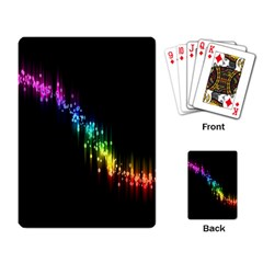 Illustrations Black Colorful Line Purple Yellow Pink Playing Card