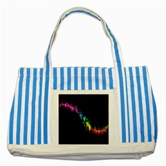 Illustrations Black Colorful Line Purple Yellow Pink Striped Blue Tote Bag