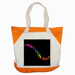 Illustrations Black Colorful Line Purple Yellow Pink Accent Tote Bag