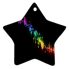 Illustrations Black Colorful Line Purple Yellow Pink Star Ornament (Two Sides)