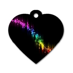 Illustrations Black Colorful Line Purple Yellow Pink Dog Tag Heart (One Side)