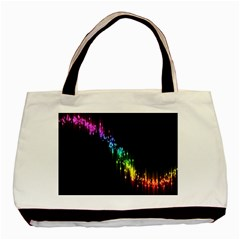 Illustrations Black Colorful Line Purple Yellow Pink Basic Tote Bag (Two Sides)