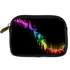 Illustrations Black Colorful Line Purple Yellow Pink Digital Camera Cases