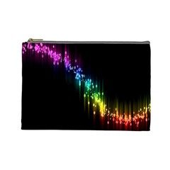 Illustrations Black Colorful Line Purple Yellow Pink Cosmetic Bag (Large)