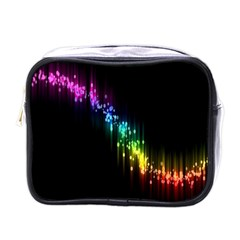 Illustrations Black Colorful Line Purple Yellow Pink Mini Toiletries Bags