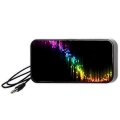 Illustrations Black Colorful Line Purple Yellow Pink Portable Speaker (Black)