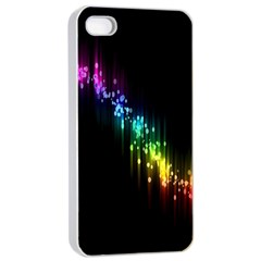 Illustrations Black Colorful Line Purple Yellow Pink Apple iPhone 4/4s Seamless Case (White)