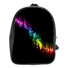 Illustrations Black Colorful Line Purple Yellow Pink School Bags (XL)