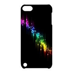 Illustrations Black Colorful Line Purple Yellow Pink Apple iPod Touch 5 Hardshell Case with Stand