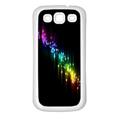Illustrations Black Colorful Line Purple Yellow Pink Samsung Galaxy S3 Back Case (White)