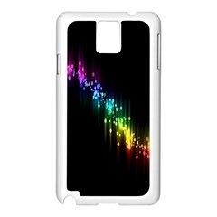 Illustrations Black Colorful Line Purple Yellow Pink Samsung Galaxy Note 3 N9005 Case (White)