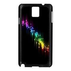 Illustrations Black Colorful Line Purple Yellow Pink Samsung Galaxy Note 3 N9005 Case (Black)