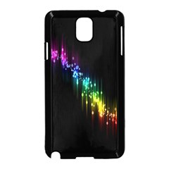 Illustrations Black Colorful Line Purple Yellow Pink Samsung Galaxy Note 3 Neo Hardshell Case (Black)