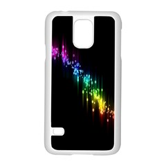 Illustrations Black Colorful Line Purple Yellow Pink Samsung Galaxy S5 Case (White)