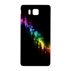 Illustrations Black Colorful Line Purple Yellow Pink Samsung Galaxy Alpha Hardshell Back Case