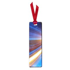 Glow Motion Lines Light Blue Gold Small Book Marks