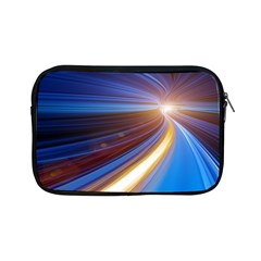 Glow Motion Lines Light Blue Gold Apple iPad Mini Zipper Cases