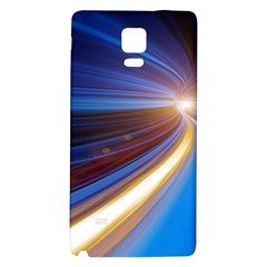 Glow Motion Lines Light Blue Gold Galaxy Note 4 Back Case