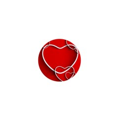 Heart Love Valentines Day Red 1  Mini Magnets