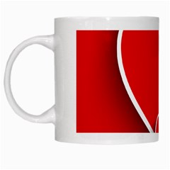 Heart Love Valentines Day Red White Mugs