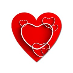 Heart Love Valentines Day Red Heart Magnet