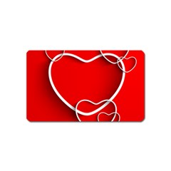 Heart Love Valentines Day Red Magnet (name Card)