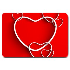 Heart Love Valentines Day Red Large Doormat